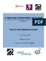 2nd Annual West Africa Women Policy Forum, Abidjan Cote D'Ivoire