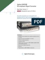 N4916B de Emphasis Signal Converter Data Sheet 5990-4630EN