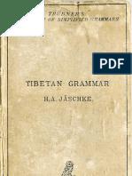얘쉬케, 티베트어 문법 Jäschke, Tibetan Grammar (1883)