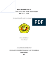Cover. Approval Absatra RESEARCH PROPOSAL