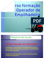 Formação de operador de empilhadeira