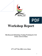 Policy Research Methodology Workshop Narrative Report - Accra, Ghana (May 2008)