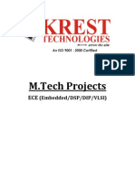 KREST_M.tech ECE Projects List 2011-12