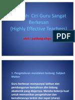 Sepuluh Ciri Guru Sangat Berkesan
