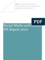 Social Media and Online PR Report