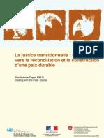 La justice transitionnelle