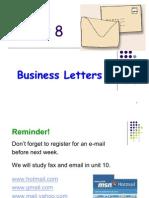 Unit 8 Business Letters 1