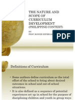 philosophical bases of curriculum development in the philippines Educational foundations curriculum studies curriculum development and evaluation doctor of philosophy (philippine studies.