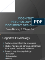 Cognitive Psychology Document Design