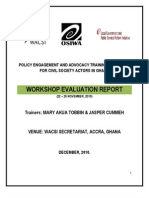 Policy Advocacy and Engagement  Training-Post Evaluation Report - Accra Ghana (November, 2010)
