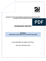 Policy Advocacy and Engagement Training Narrative Report -Abidjan, CoteD'Ivoire - (March 2010)