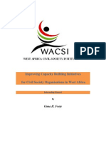 Improving Capacity Building for Civil Society Organisations in West Africa