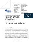 Le Centre International pour la Justice Transitionnelle  Rapport annuel   2004/2005