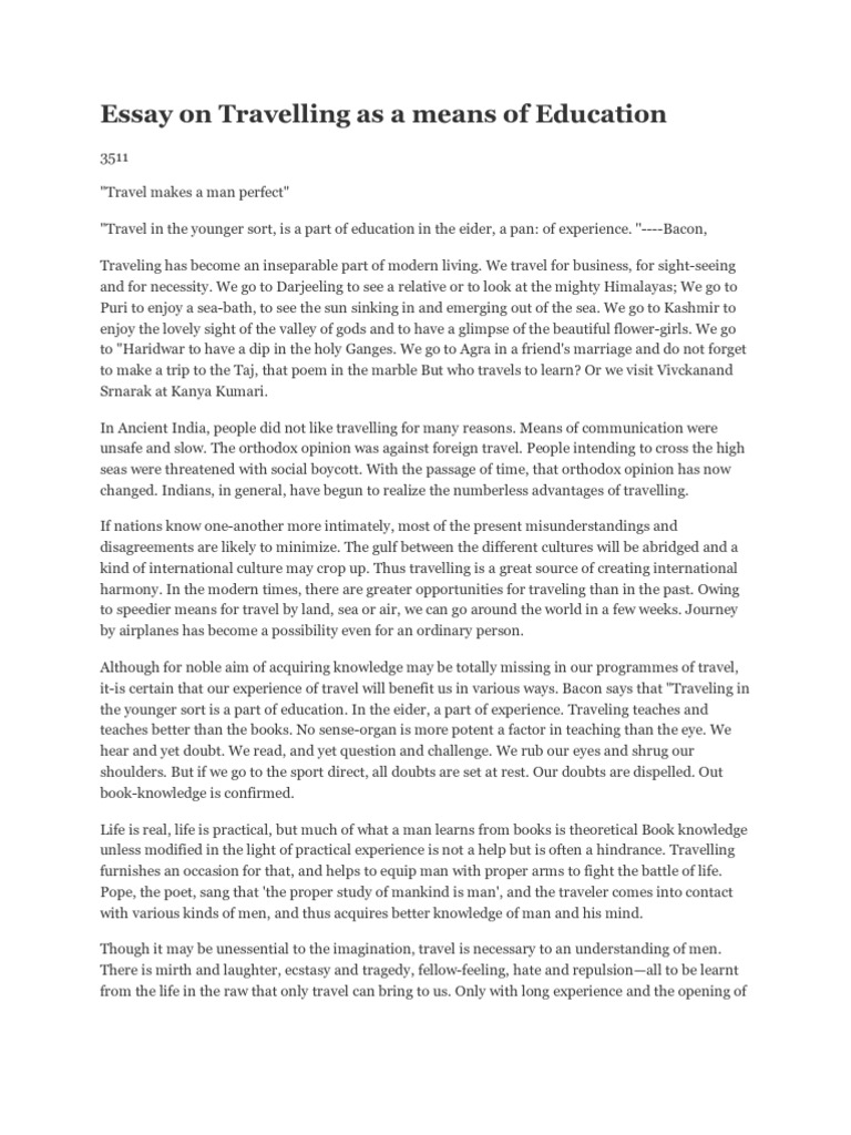 education for life essay