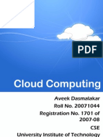 Cloud Computing, Seminar Report
