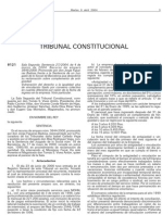 Sentencia Antigüedad Tribunal Constitucional