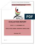 Policy Advocacy and Engagement Post Training Evaluation Report - Sierra Leone ( December, 2011)