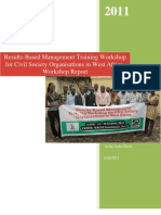 Results Based Management Training Narrative Report-Acccra Ghana(August 2011)