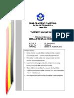 Paket 1 Pra Un Bhs Indonesia 2012