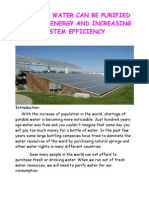 Purification of Polluted Water by Solar Energy and Increasing System Efficiency