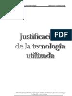 04 Justificacion de La Tecnologia Empleada