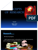 Concepts of Research