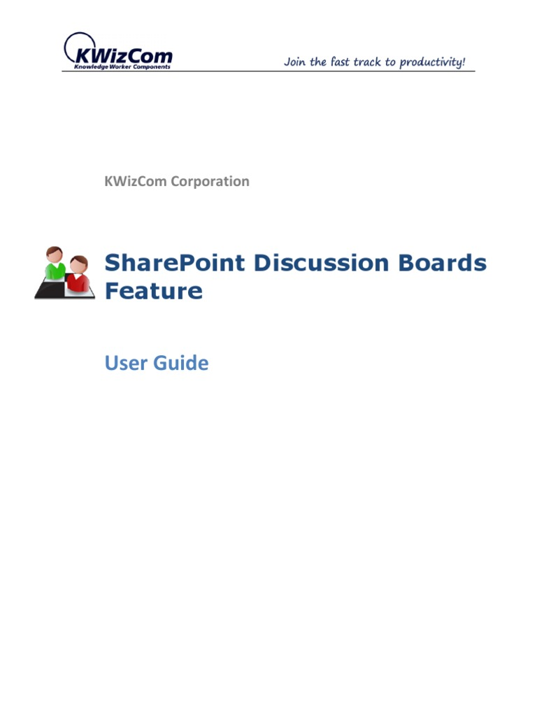 Share Point Discussion Boards Feature User Guide | Internet Forum