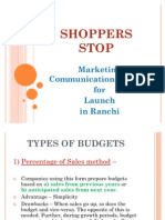 Shoppers Stop - Budget
