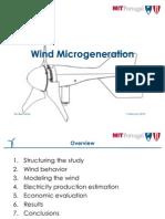Wind Micro Generation Rui Bernardo