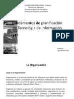Capítulo I - Fundamentos de Planificación