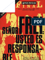 Punto Final, nº 077, 1969 - Señor Frei, usted es responsable...