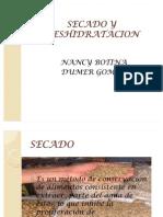 SECADO Y DESHIDRATACION