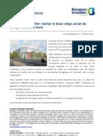 Bouygues Immobilier réalise le futur siège social du Groupe Clarins à Paris