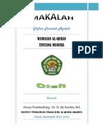 Wawasan Al-Quran Tentang Manusia
