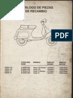 Manual Despiece Vespa Fl