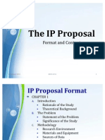 IP_Proposal Format and Content