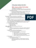 Civil Procedure Outline Fall 2011