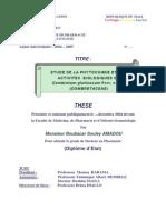 thèse etude phytochimie et activités bio