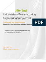 ET Industrial and Manufacturing Engineering Sample Test