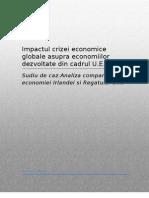Impactul Crizei Economice Globale Asupra Economiilor Dezvoltate Din Cadrul u.e.