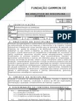 Administracao de Recursos Materiais e Patrimoniais I PLANO de ENSINO 1_2012