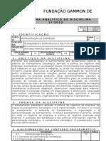 to Estrategico e Politica de Negocios PLANO de ENSINO 1_2012