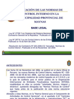1  APLICACIÓN DE LAS NORMAS DE CONTROL INTERNO EN LA MUNICIPALIDAD PROVINCIAL DE MAYNAS