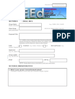 iSEEd 2012 Application & Project Form