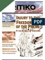 KRITIKO NEWS Vol. 4 Ed. 4 January 2012 E-Version