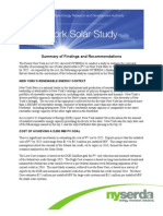 Solar Study Findings Recommendations