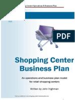 Shopping Centre Business Plan Sample