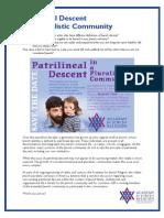 Patrilineal Descent in a Pluralistic Community
