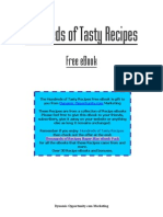"""Hundreds of Tasty Recipes"" Book"