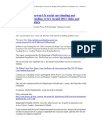 The Dilnot Report on UK Social Care Funding and the Palliative Care Funding Review, 2011